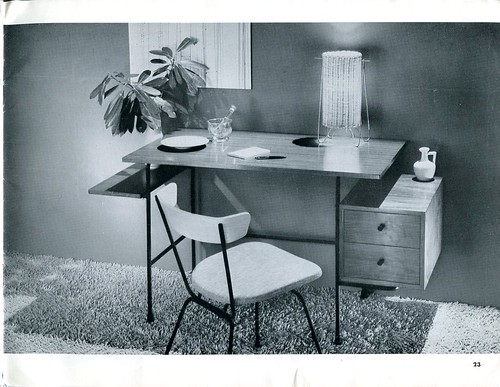 1952 Modernmasters #DW4155M Desk and #SD34710 Chair