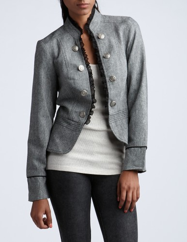 FF_tweed military blazer_charlotte russe