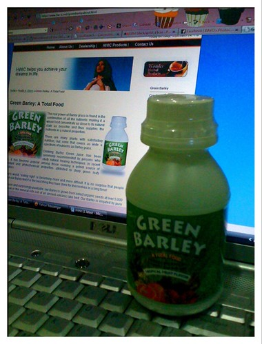 green barley!