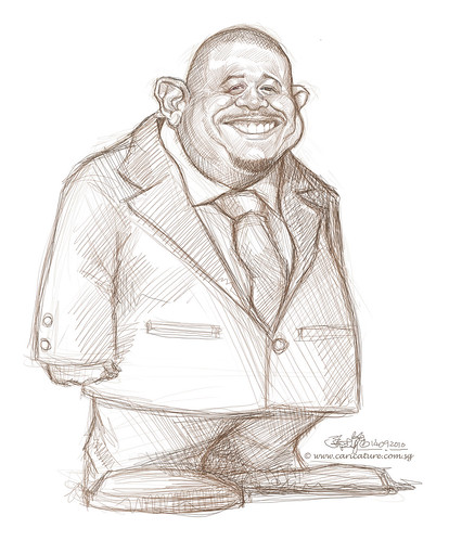 Schoolism Assignment 5 - sketch 04 of Forest Whitaker
