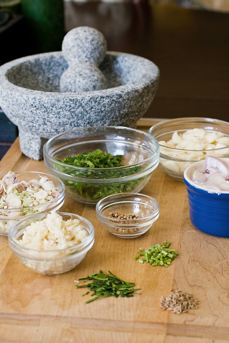 Homemade Thai Green Curry Paste Ingredients