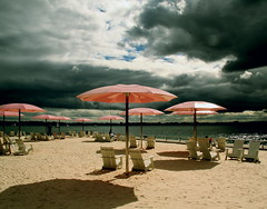 1129 - sugar beach (allanparke) Tags: pink sun toronto ontario canada beach clouds sand getty umbrellas colliers deckchairs sugarbeach urbanbeach yourbestshot2010 henryspotd gettyfeb2011