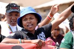 Yell (Lauren Barkume) Tags: africa gay portrait woman black lesbian southafrica march african pride september few lgbt queer johannesburg township joburg soweto 2010 gblt laurenbarkume forumforempowermentofwomen