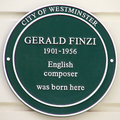Photo of Gerald Finzi green plaque
