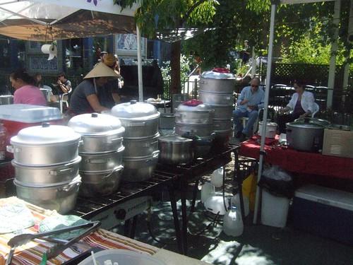 Dumplings at the market