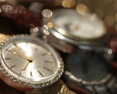 Never Enough Time (j.towbin ©) Tags: bokeh watches timepieces gold silver diamonds sparkles time toobusy busy macro macromondays focus handsoftime crystal watchface costumejewelry notoneofthemisanygood notoneofthemtellstime week11timepieces macromonday 7daysofshooting allrightsreserved© allrightsreserved© clock watch timepiece