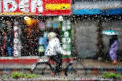 The world through rain drops (fahim_123752) Tags: street people rain shop streetphotography raindrops urbanlife raindropsontheglass