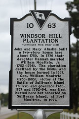 Windsor Hill Plantation Historical Marker - side 2