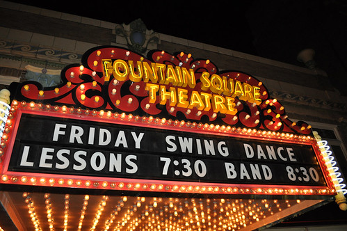 Swing Dancing in Fountain Square