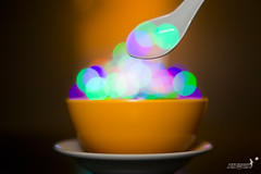 Soup of Bokehistan (achew *Bokehmon*) Tags: blue light red wallpaper orange color green soup purple bokeh spoon bowl strobe bokehnistan