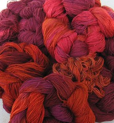 silk warps dyed