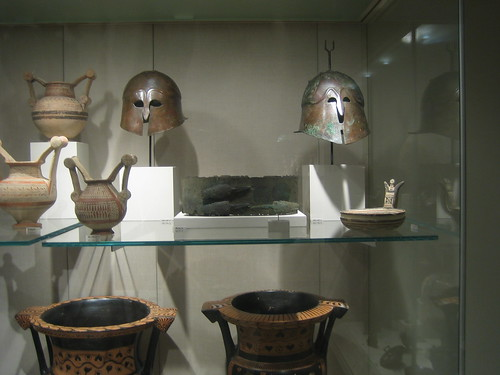 Two Bronze Helmets, Greek, South Italian, mid-4th-mid-3rd century B.C. _8182