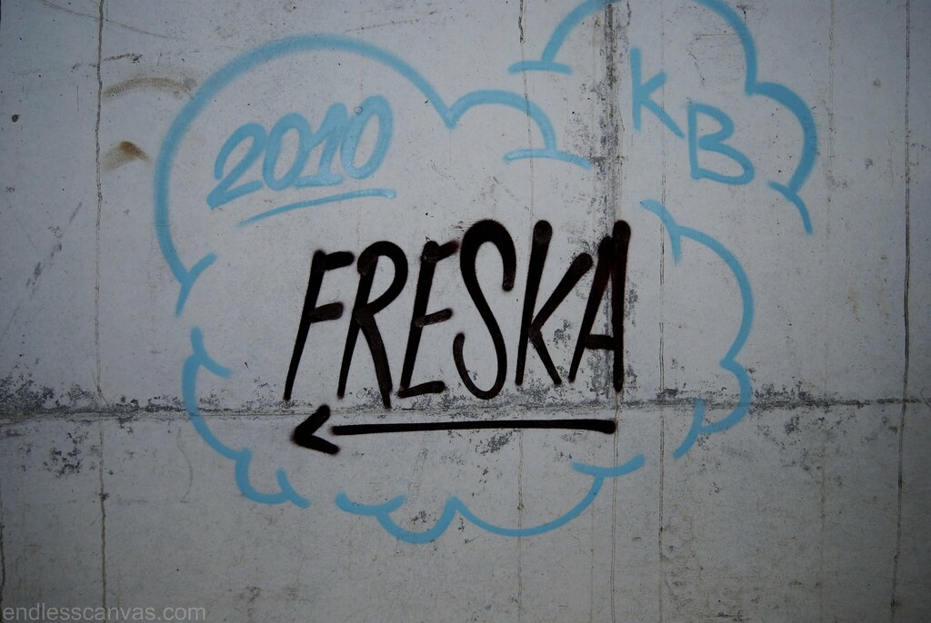 Freska Fresh Graffiti Tag Oakland CA.