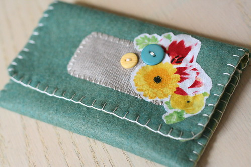 new felt wallet.