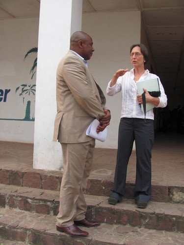 Talking with Paulin Tshikaya, bureau chief for ICCN in Kisangani