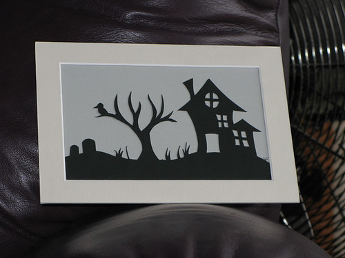 Spooky House Paper-Cut