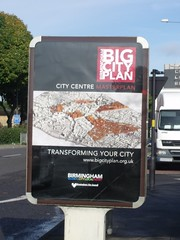 Birmingham Big City Plan - City Centre Masterplan - Transforming Your City - advert in the Maypole