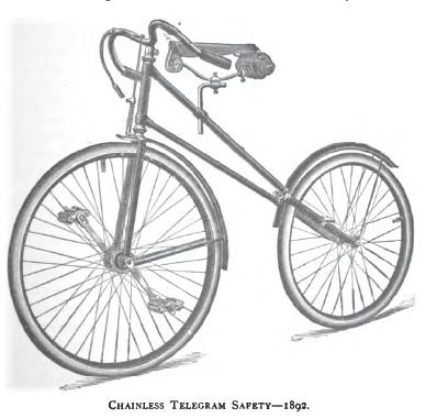 Chainless Safety Bicycle (1892)