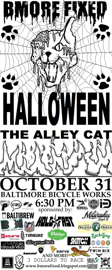 ALLEY CAT RACE BALTIMORE HALLOWEEN