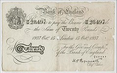 Operation Bernhard 20 pound banknote