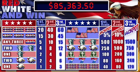 free Red White and Win slot mini symbol