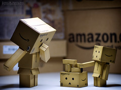 "088/365: Playing ""Stack-The-Boxes"". (Randy Santa-Ana) Tags: toys play boxes mischief danbo gf1 project365 danboard minidanboard minidanbo 365daysofdanbo"