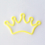 Shaped rubber bands: crown yellow