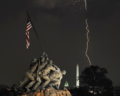 Happy 236th Birthday Marine Corps! (Warriorwriter) Tags: storm monument rain weather night arlington virginia washingtondc nikon memorial flag military flash congress nationalmall electricity strike thunderstorm marines lightning nikkor washingtonmonument marinecorps iwojima semperfi capitoldome marinecorpswarmemorial oohrah mtsuribachi leatherneck marinecorpsmemorial nikond3x nikonafs70200mmf28vrii isaacdpacheco2010allrightsreserved