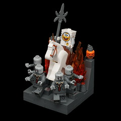 The Fifth Rider (Normal Light) (pasukaru76) Tags: halloween lego apocalypse spongebob zombies vignette stupidity moc canon100mm apawkalips