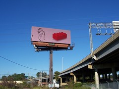 Sign language: L is for Lego (trepelu) Tags: red brick art digital advertising high hand lego fingers ad billboard freeway huge publicart roadside gigantic signlanguage i195 attraction richmondbillboardproject yetanotherroadsideattraction