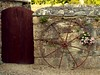 Wheel, Wall and Gate (saxonfenken) Tags: door flowers wheel wall iron cornwall farm stonewall thumbsup 112 sb bigmomma friendlychallenge thechallengefactory herowinner gamex2sweepwinner pregamewinner gamesweepwinner 112misc