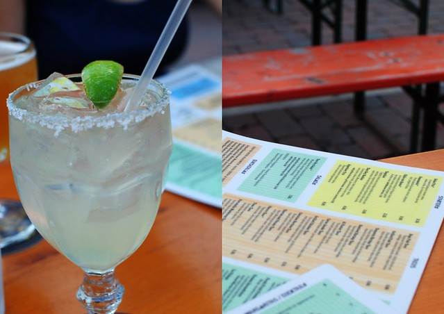 agave-sweetened margs + colorful menus
