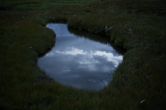 Portal to another dimension (Lizzie Staley) Tags: sky reflection clouds puddle scotland paralleluniverse