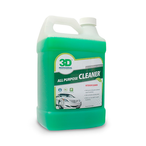 Clean Car Interior & Exterior with 3D's All Purpose Cleaner available in 1 & 5 Gallon