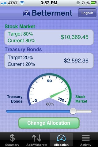 Betterment for iPhone and iPod touch on the iTunes App Store