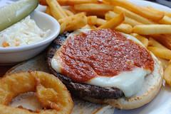 20101003 Pizza Burger Deluxe (Tom Spaulding) Tags: ny newyork burger diner frenchfries cheeseburger hamburger saugerties saugertiesny barclayheightsdiner