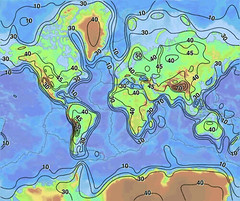 Map showing the estimated thickness of the Wor...