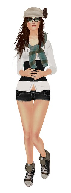 "Urban Girl 02 group gift + !MM! POP! Pale Freckles Hunt Item+ """"D!va"""" Hair ""Chiaki"""