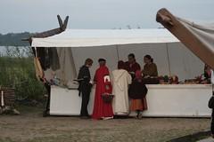 Tanja und Christoph Wagner von NordischWerk in Haithabu Wikinger Museum WHH - 03-10-2010