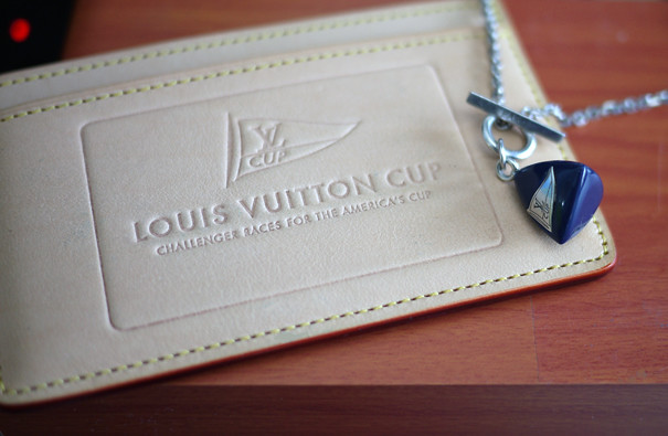 Louis Vuitton Cup Vachetta Card Holder and Pendant