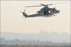 Huey and Sea Knight (Rik Kirby) Tags: california blue nikon sandiego flight navy jet airshow huey angels marines runway miramar pilot airshows 2010 ch46 mcas d300 uh1 seaknight miramarairshow2010