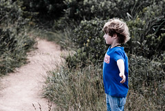 Love the Breeze (ian.chow) Tags: trees boy sea mountain beach childhood sand wind o walk hike hong kong shek breeze