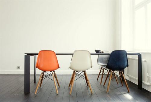 orange chair, interior design via emmas blogg