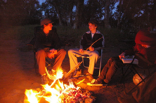 evenings around the fire