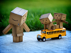 094/365: Our Little Yellow Schoolbus. (Randy Santa-Ana) Tags: yellow toys little schoolbus danbo gf1 project365 danboard minidanboard minidanbo 365daysofdanbo