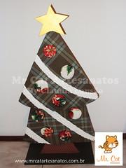 rvore de Natal (Carton Mousse) (claulousao) Tags: natal artesanato madeira mdf rvoredenatal cartonmousse patchworkembutido