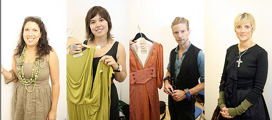 Jeff Garner, Nicole Bridger, Kim Cathers, and Regina Noppè at Eco Fashion Week Vancouver