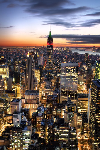 'Downtown is where it's at' United States, New York, Empire State Building, View From the Top of the Rock