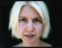 (codooaustin) Tags: california camp portrait woman white mamiya film girl face polaroid fuji dof border hills pack blonde 100 67 lis agora gupta bokt phoot phootcamp