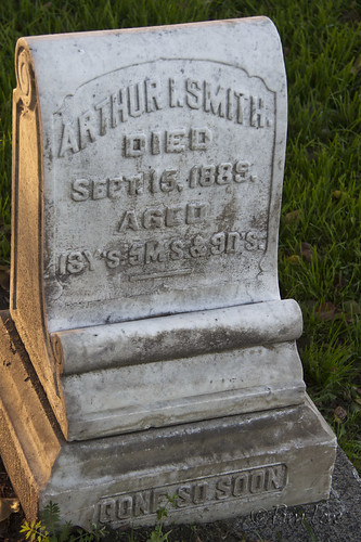 Grave stone at Downey Cemetery